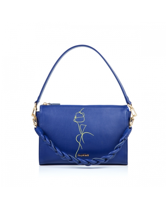 "Amelia Hand painted ""FL Woman"" Bag -Blue"